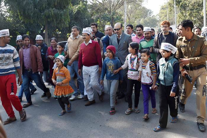 An AAP campaign in Delhi.