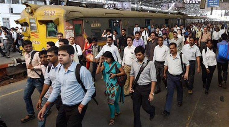 Commuters at a station in Mumbai on Thursday. Railway Minister Suresh Prabhu presented the Railway Budget 2015-16 in the Lok Sabha on Thursday. (Source: PTI)