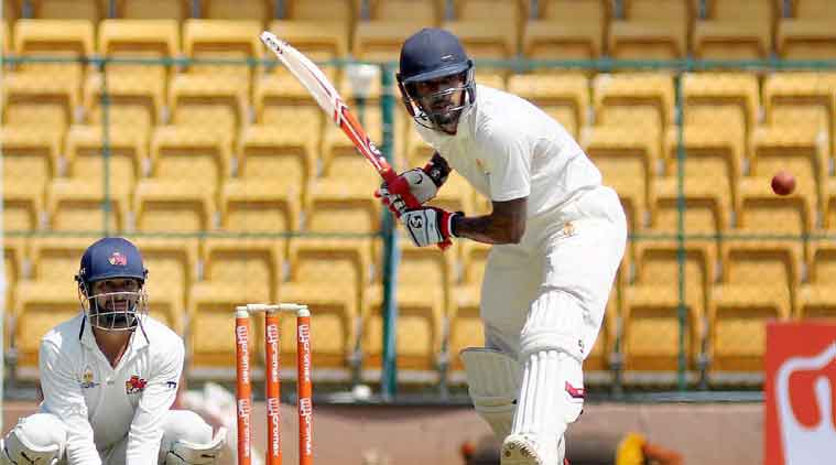 Karnataka were bundled out for 286 in their second innings, with Abhimanyu Mithun (89) scoring bulk of the runs. (Source: PTI)