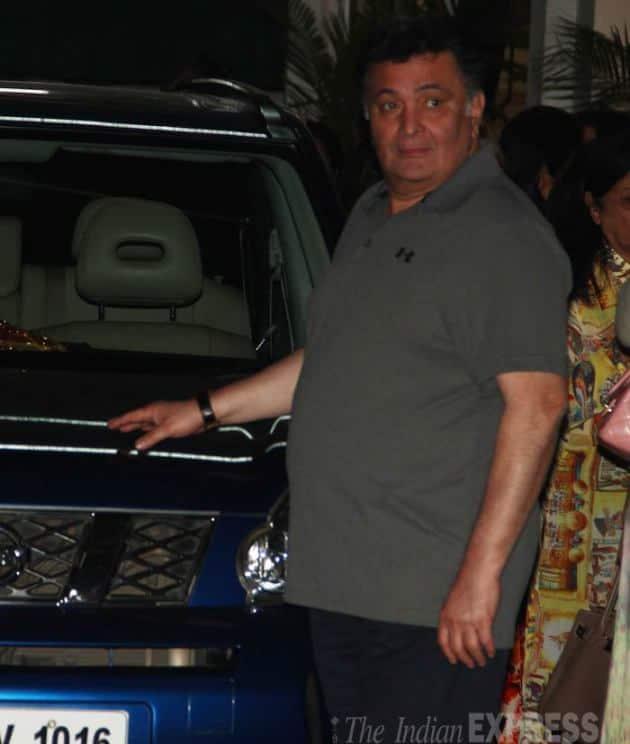 Rishi Kapoor, Roy screening photos, Arjun Rampal Mehr photos, Rishi Kapoor, Neetu Kapoor, Roy screening photos