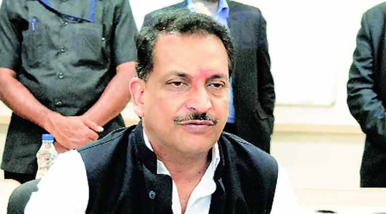 Rajiv Pratap Rudy at an event in the city on Friday. (Source: Express Photo )