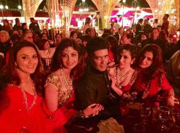 Hinduja wedding, Manish Malhotra, Sophie Choudry, Preity Zinta, Raveena Tandon, Shilpa Shetty