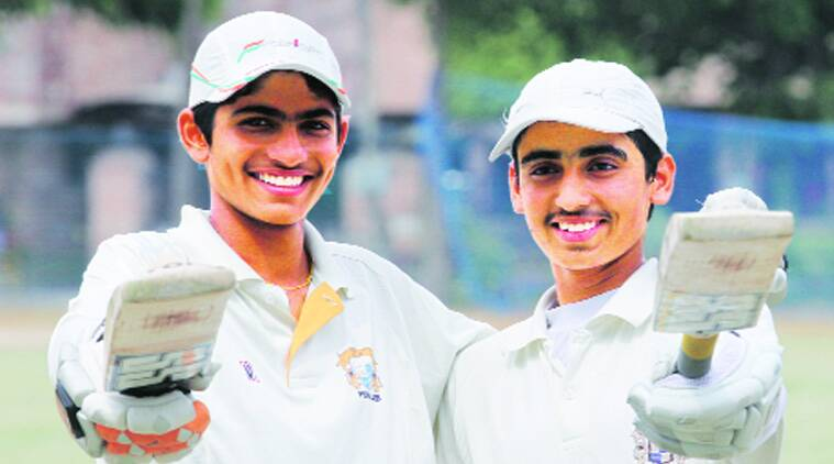 Shubhman Singh Gill (left) and Nirmal Singh in Sector 62, Mohali. (Source: Express archive)