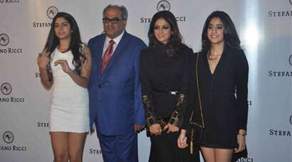 Sridevi's outing with her stylish teenage daughters Jhanvi, Khushi