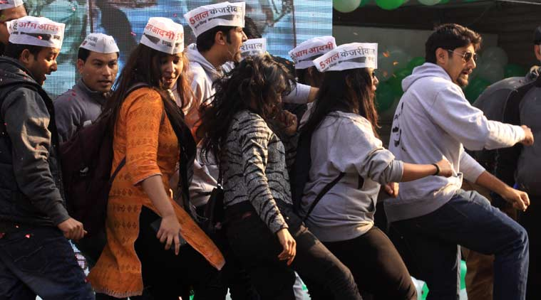 AAP supporters, Delhi polls result