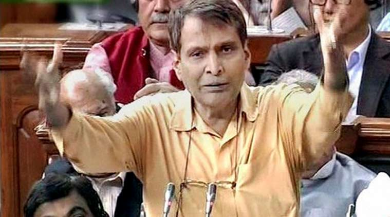 suresh prabhu, solar power plant, suresh prabhu solar power, suresh prabhu train solar power, train solar power, india news, mumbai news