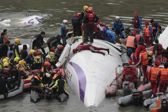 A plane operated by the same Taipei-based airline crashed in the outlying Taiwan-controlled islands of Penghu last July 23, killing 48. (Source: AP)