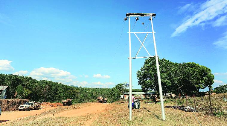 Power lines are being laid and over a fortnight ago, electricity arrived at Haollenphai, though supply remains irregular.