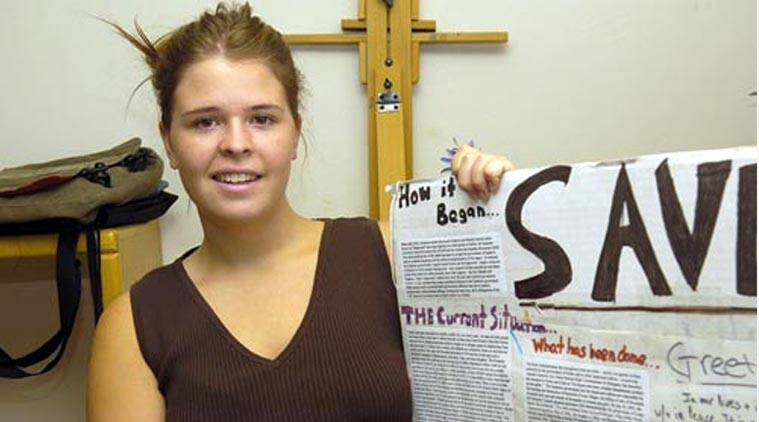 FILE - American journalist  Kayla Mueller who was held hostage by the Islamic State group and allegedly killed in the February 6 2015 airstrike.