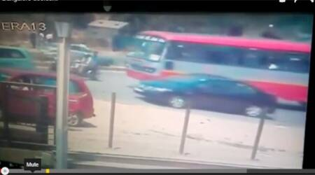 Video: Water tanker kills two in a horrifying road accident in Bangalore