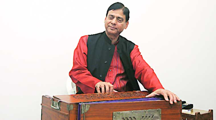 Singer Vinod Kumar; from an earlier performance. (Source: Express Photo by Amit Mehra)