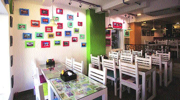 The interiors of World Pizza Journey.