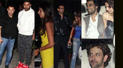 Aamir, Gauri, Hrithik at Abhishek Bachchan's bash for cousin Naina and her husband Kunal