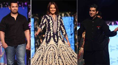 Sonakshi Sinha, Aamir Khan on ramp for charity