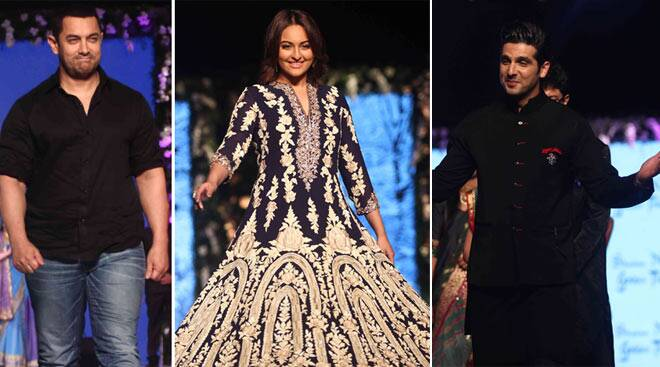 Aamir Khan, Sonakshi Sinha walk the ramp for charity
