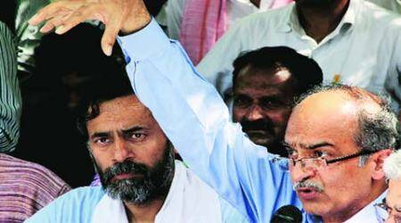 Aam Aadmi Party split: Prashant Bhushan, Yogendra Yadav out of national executive