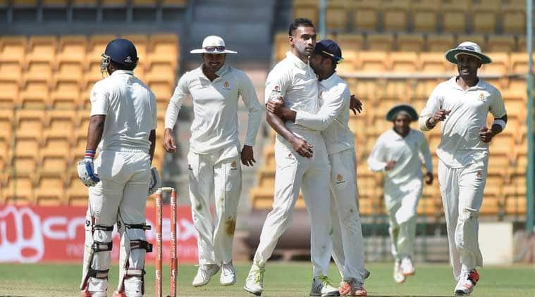 Abhimanyu Mithun, Ranji Trophy 2017, Karnataka, R Vinay Kumar, ranji trophy updates,