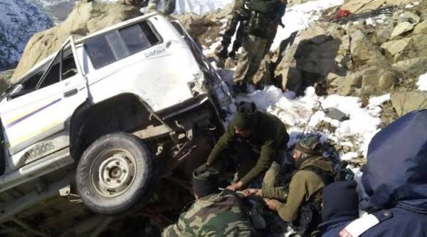 Sources said the ill fated vehicle was on way from Jammu to Srinagar.