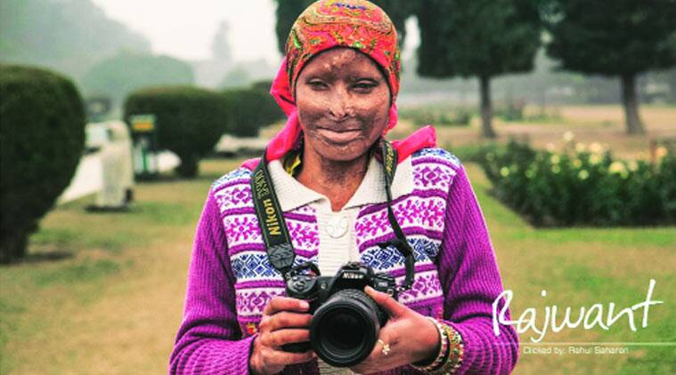 The page of the calendar featuring Rajwant Kaur, who aspires to be a photojournalist.