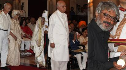 President Pranab Mukherjee confers Bharat Ratna, Padmaawards