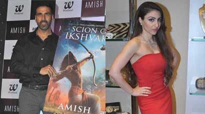 Akshay Kumar unveils 'Scion of Ikshvaku', Soha Ali Khan 'Steps Up'