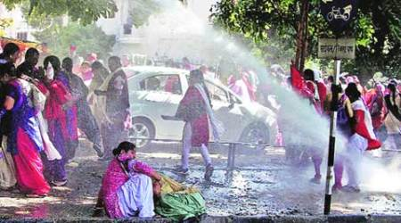 Water cannons, tear gas greet anganwadi workers walking to Punjab CM's residence