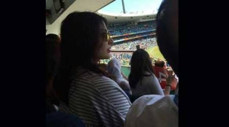 Anushka Sharma is at Sydney Crickett Ground to cheer for Team India and boyfriend Virat Kohli