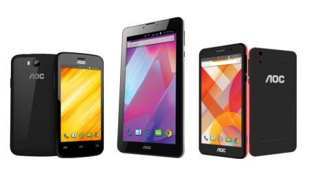 AOC enters mobile business, launches two smartphones and a tablet