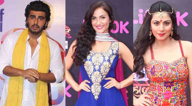 Arjun Kapoor celebrates early Holi with Elli Avram, Shraddha Arya