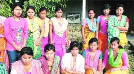 Homeless Assam girls take board exams from a camp