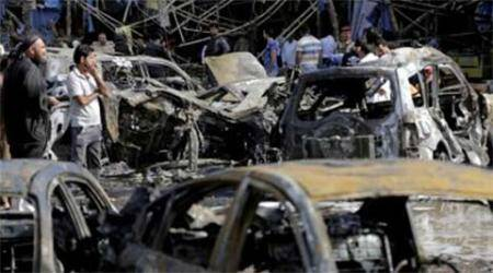 Ban-Ki-Moon reaches Iraq; 11 die in twin car bombing in Baghdad suburb
