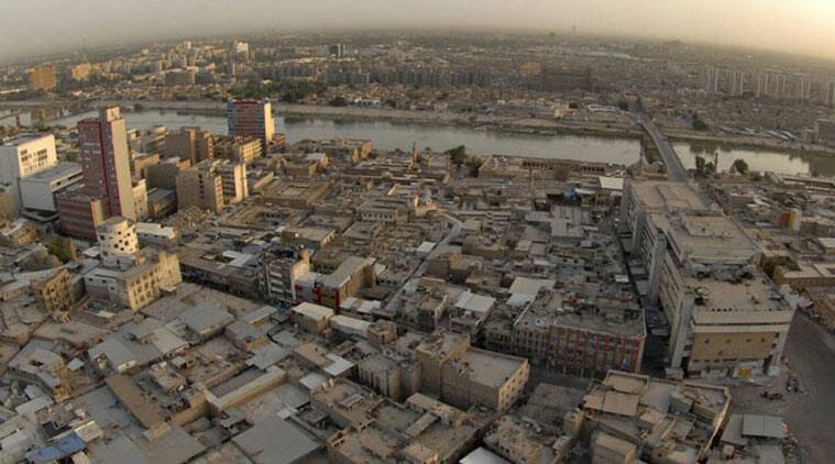 An aerial view of central Baghdad and the Tigris river. (Source: Reuters)