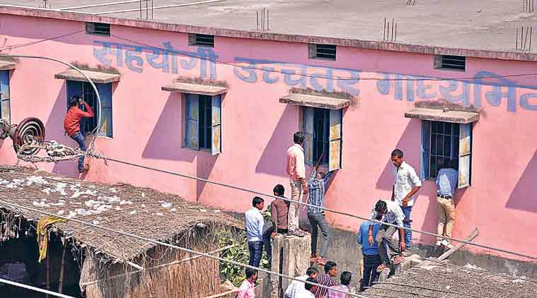 Cheating during Board exams in Bihar. (Source: Express Photo/FILE)