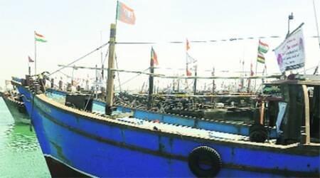 Boats sport BJP banners, flags on arrival from Pak
