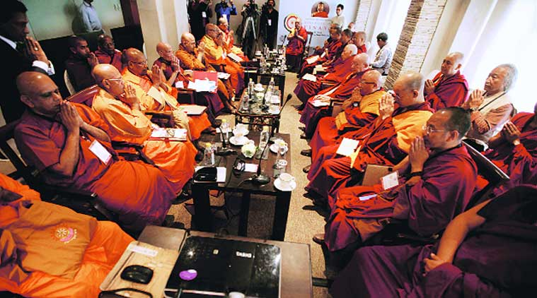Theravada monks, PM Narendra Modi, India Sri Lanka toes, Sri Lanka  Theravada monk, Nalanda, Dalai Lama, Sri Lankan monks