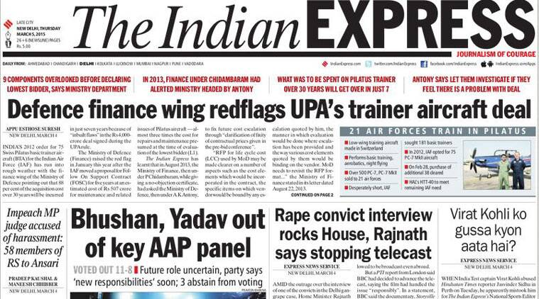 Here are the top five stories from today's edition of The Indian Express.