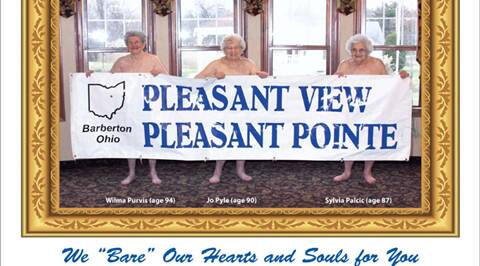 Grandma is a centerfold: Rest home bares all for calendar