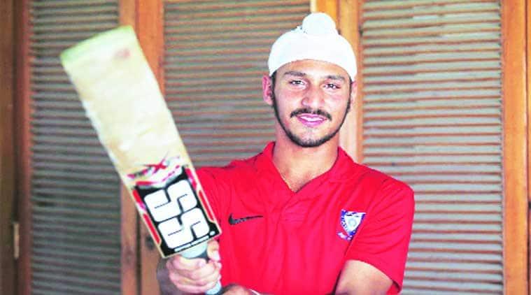 Anmolpreet Singh at PCA stadium. (Source: Express photo by Jasbir Malhi)