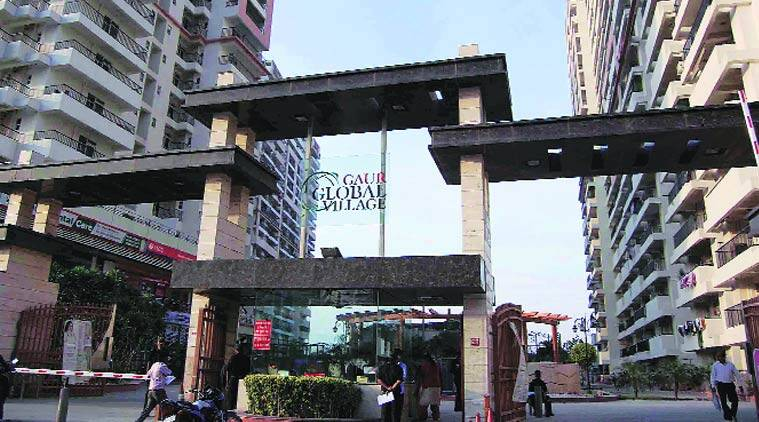 The incident was reported from Gaur Global Village apartment complex in Crossing Republik, Ghaziabad.