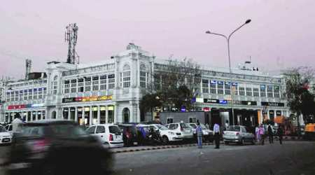 connaught place, delhi, delhi news, connaught place walking, pedetrianisation of cp, pedetrianisation project, indian express