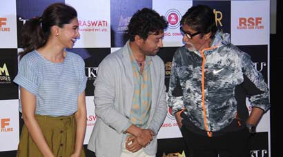 PHOTOS: Amitabh Bachchan, Deepika Padukone, Irrfan Khan launch 'Piku' trailer