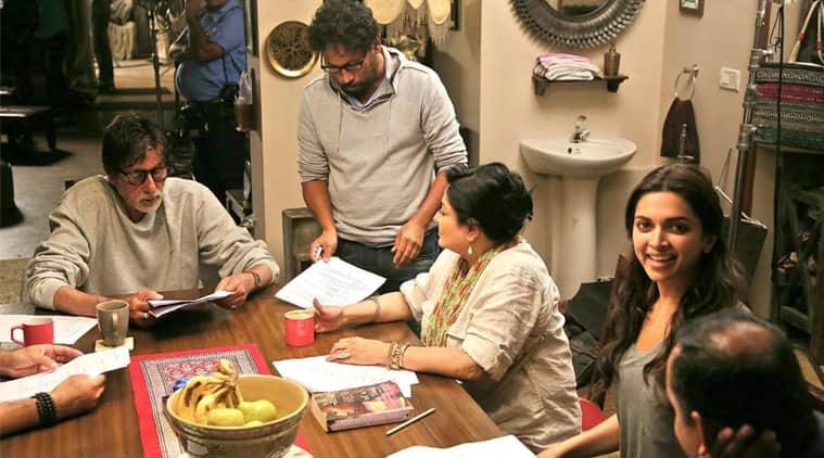 Deepika Padukone, Amitabh Bachchan, Irrfan Khan, Shoojit Sircar