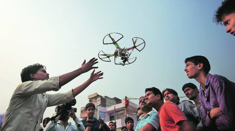 Recently, drones were used in riot-hit Trilokpuri (above) to carry out surveillance for security reasons. archive