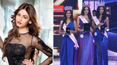 Delhi's Aditi Arya crowned Miss India 2015, Aafreen Rachel Vaz and Vartika Singh were runners-up