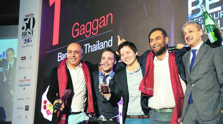 Gaggan Anand (second from right) with his team.
