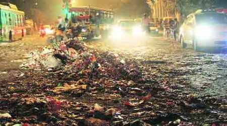 Striking workers litter East Delhi with rotting garbage