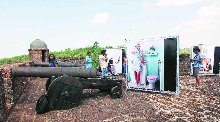 One of the many venues of the Goa Photo 2015 exhibition was the Reis Magos Fort (Photos: Express photo by Pavan Khengre)