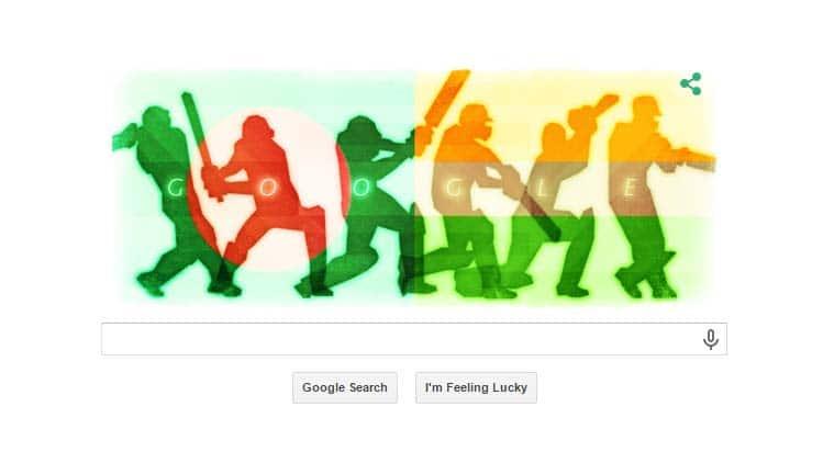 Google, Google doodle, google search engine, India vs Bangladesh, World Cup quarter finals, Cricket World Cup, World Cup 2015, ICC Cricket World Cup 2015, India vs Bangladesh quarter finals, Sports
