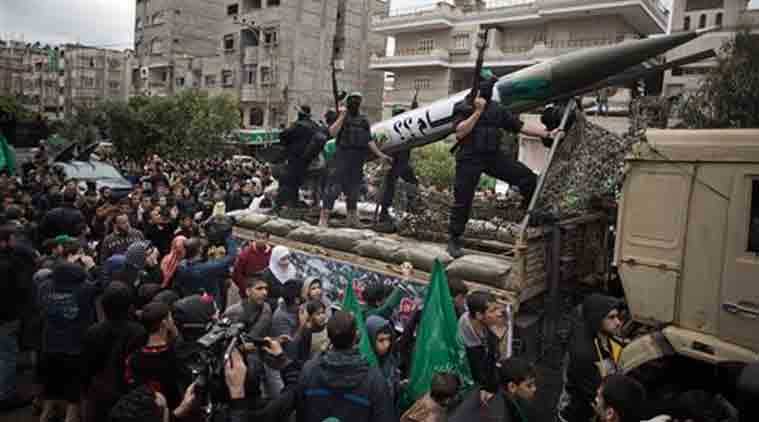 """File photo: An Egyptian court declared Hamas a """"terrorist organization"""" Saturday, Feb. 28, 2015, further isolating the rulers of the Gaza Strip who once found a warm welcome under the country's past Islamist government. (Source: AP)"""