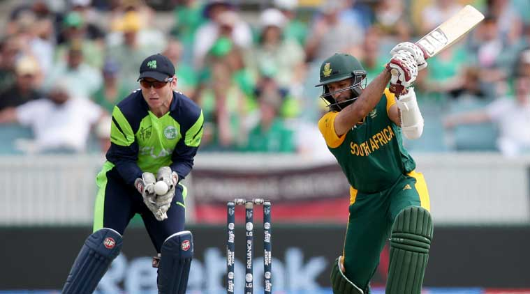 Hashim Amla scored his 20th ODI ton and became the fastest to achieve the feat against Ireland. (Source: AP)